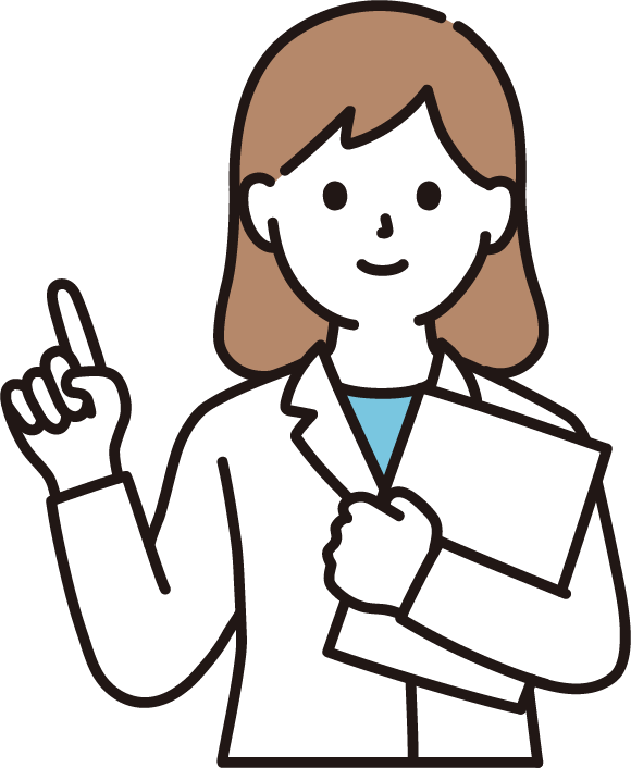 指差しする女性心理士